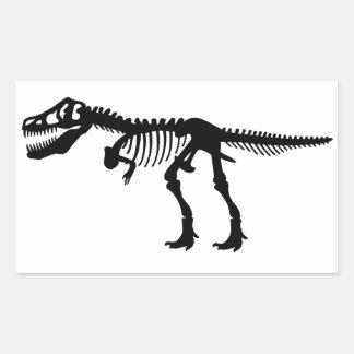 Tyrannosaurs Rex  Dinosaur Skeleton Rectangular Sticker