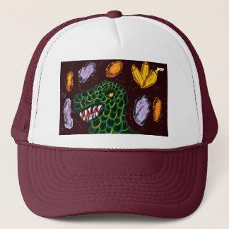 Tyrannosaurus art trucker hat