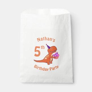 Tyrannosaurus Birthday Favour Bags