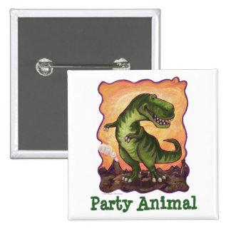 Tyrannosaurus Party Center 15 Cm Square Badge