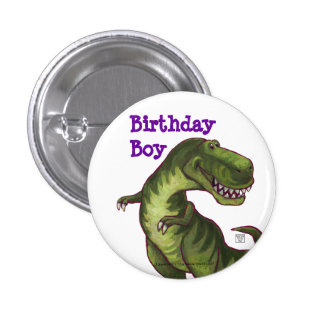 Tyrannosaurus Party Center 3 Cm Round Badge