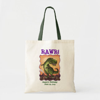 Tyrannosaurus Party Center Tote Bags