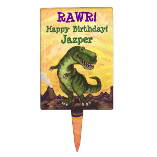 Tyrannosaurus Party Center Cake Toppers