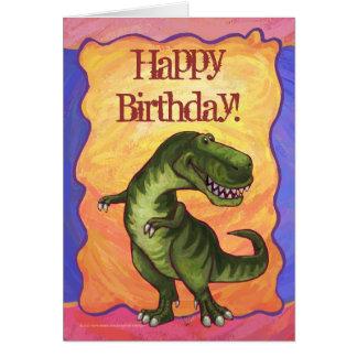 Tyrannosaurus Party Center Greeting Card