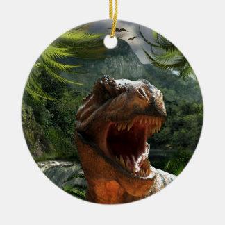 tyrannosaurus-rex-284554 tyrannosaurus rex dinosau christmas ornament