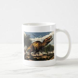 Tyrannosaurus rex and its eggs basic white mug