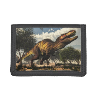 Tyrannosaurus rex and its eggs trifold wallet