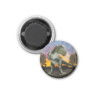 Tyrannosaurus Rex at the Twilight Hour 3 Cm Round Magnet