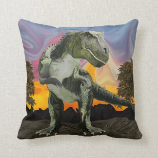 Tyrannosaurus Rex at the Twilight Hour Cushion