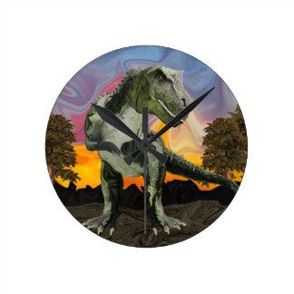 Tyrannosaurus Rex at the Twilight Hour Wallclock