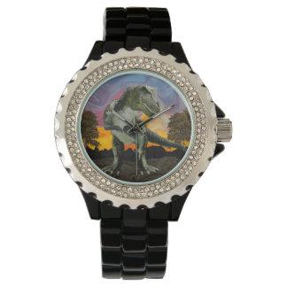 Tyrannosaurus Rex at the Twilight Hour Wristwatches