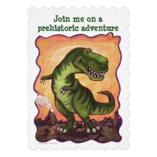 Tyrannosaurus Rex Bday Party Diecut Custom Invite