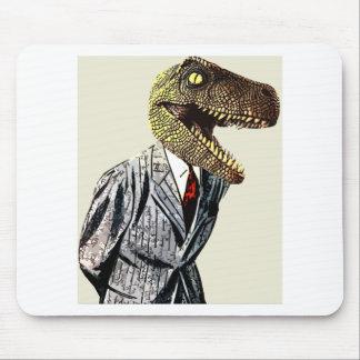 Tyrannosaurus Rex Business Man Mouse Mat