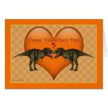 Tyrannosaurus Rex Dinosaur blank Valentine Card