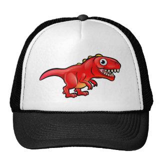 Tyrannosaurus Rex Dinosaur Cartoon Character Cap