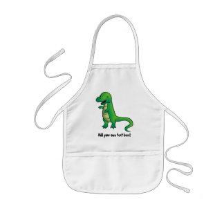Tyrannosaurus Rex Dinosaur cartoon Kids Apron