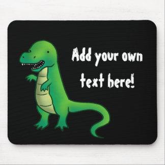 Tyrannosaurus Rex Dinosaur cartoon Mouse Pad