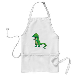 Tyrannosaurus Rex Dinosaur cartoon Standard Apron