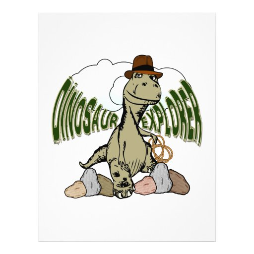 Tyrannosaurus Rex Dinosaur Explorer with Text Flyer Design