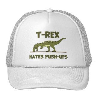 Tyrannosaurus Rex Dinosaur Hates Push Ups Hats