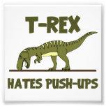 Tyrannosaurus Rex Dinosaur Hates Push Ups Photo