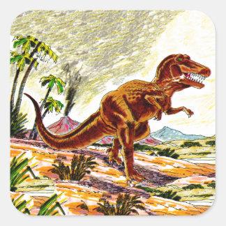 Tyrannosaurus Rex Dinosaur Square Sticker