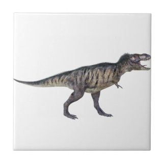 Tyrannosaurus Rex In Side Profile Small Square Tile