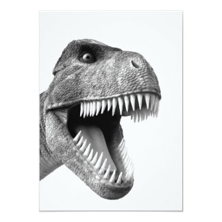 "Tyrannosaurus Rex 5"" X 7"" Invitation Card"
