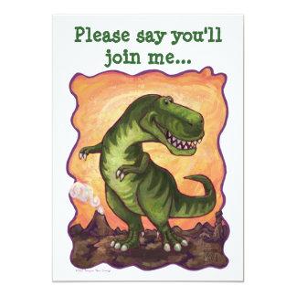 Tyrannosaurus Rex Party Center 13 Cm X 18 Cm Invitation Card