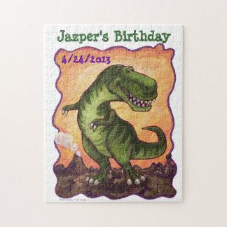 Tyrannosaurus Rex Party Center Jigsaw Puzzle