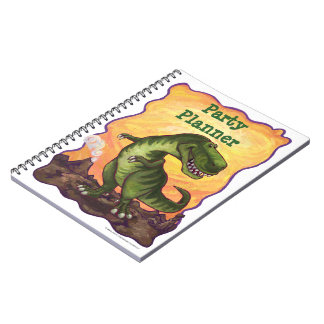 Tyrannosaurus Rex Party Planner Note Book