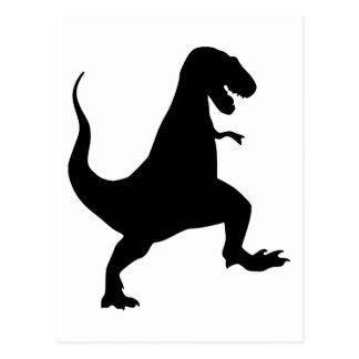 Tyrannosaurus rex Roaring and Stomping Silhouette Postcard