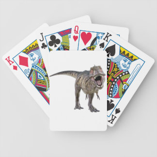 Tyrannosaurus Rex Roaring Towards the Front Bicycle Playing Cards