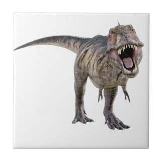 Tyrannosaurus Rex Roaring Towards the Front Small Square Tile