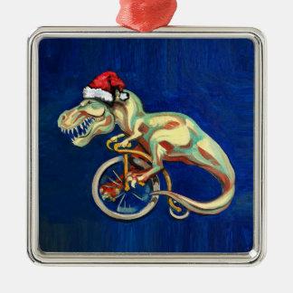 Tyrannosaurus Rex Santa Christmas Ornament