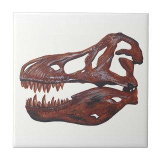Tyrannosaurus rex Skull Ceramic Tile