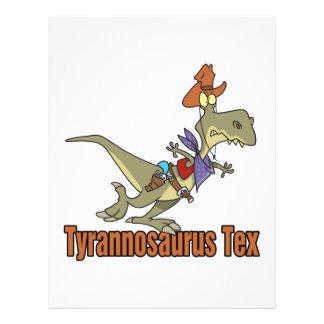 tyrannosaurus rex tex cowboy dinosaur 21.5 cm x 28 cm flyer