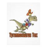 tyrannosaurus rex tex cowboy dinosaur full color flyer