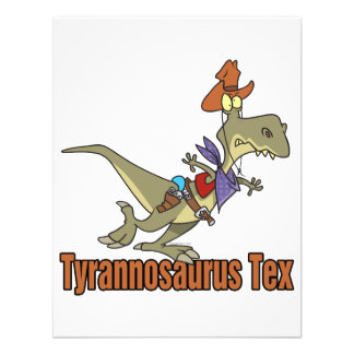 tyrannosaurus rex tex cowboy dinosaur custom announcement