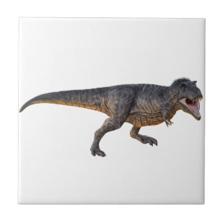 Tyrannosaurus-Rex with Yellow Coloring Small Square Tile