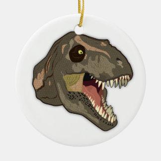 Tyrannosaurus STRIKES Christmas Ornament