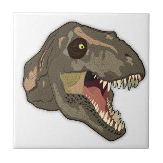 Tyrannosaurus STRIKES Small Square Tile