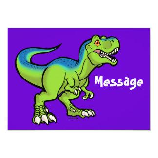 """Tyrannosaurus toon v2 5"""" x 7"""" invitation card"""