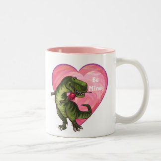 Tyrannosaurus Valentine's Day Two-Tone Mug