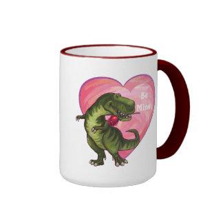 Tyrannosaurus Valentine's Day Ringer Mug
