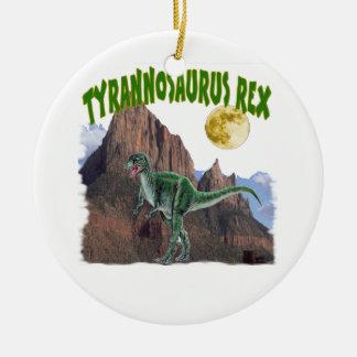 Tyrannosurus Rex Round Ceramic Decoration