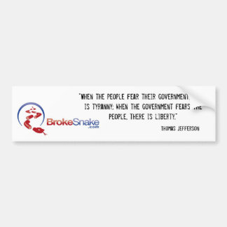 tyranny and liberty bumper sticker