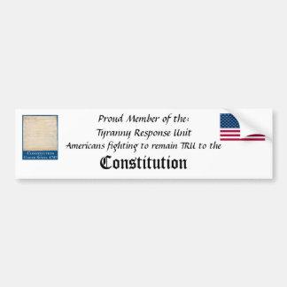 Tyranny Response Unit Bumper Sticker