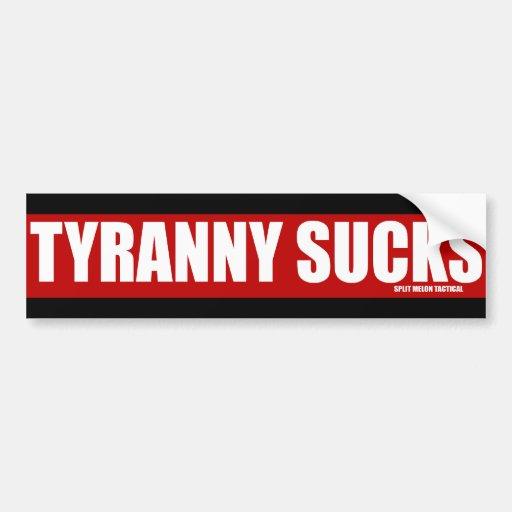 Tyranny Sucks Red Line Bumper Stickers