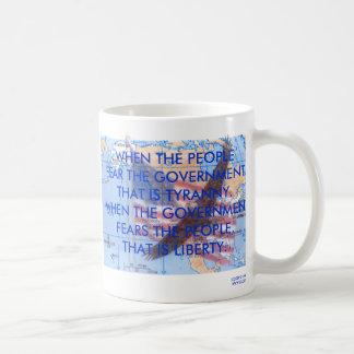 TYRANNY VS LIBERTY COFFEE MUGS